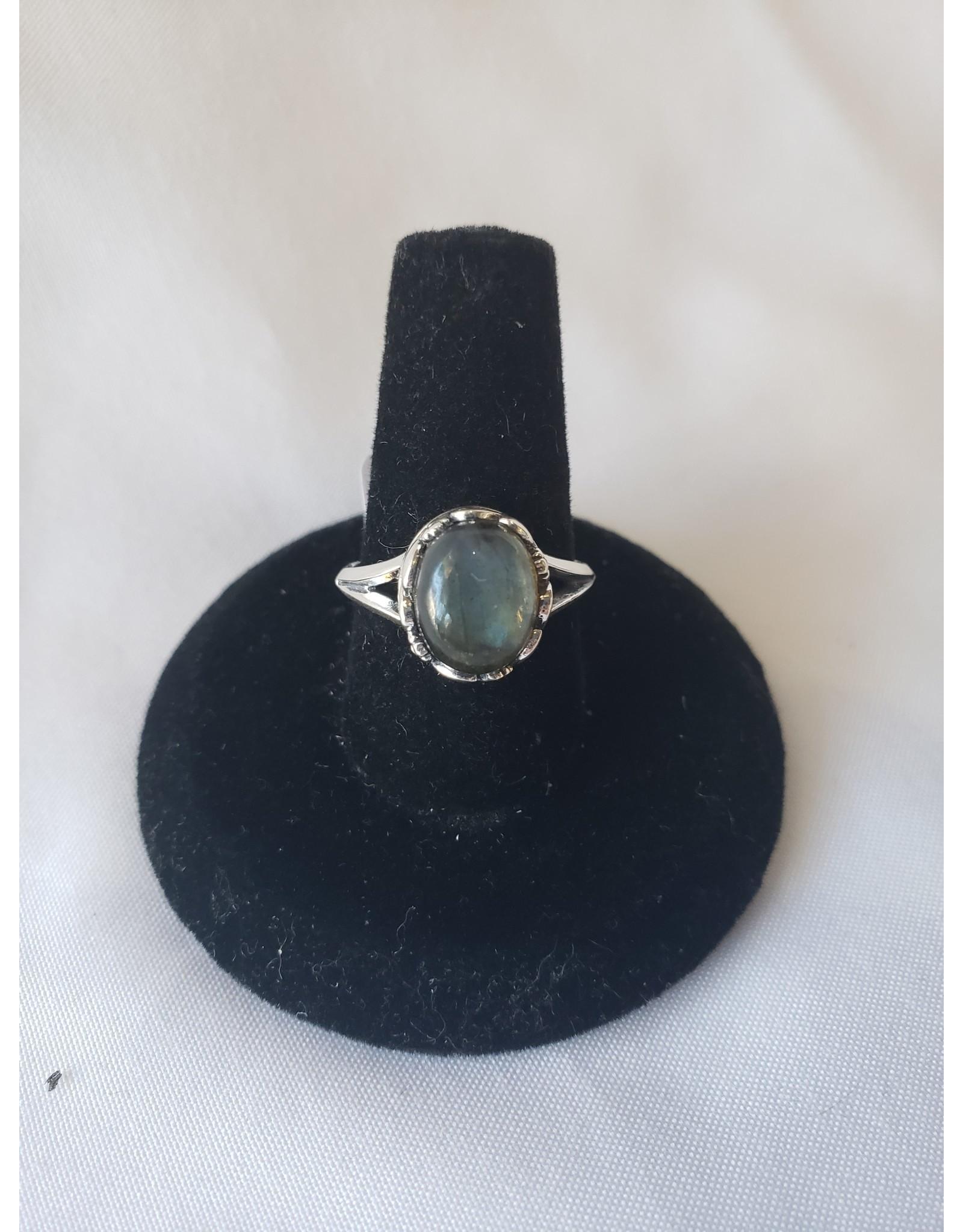 Sterling Silver - Labradorite Ring Size 6
