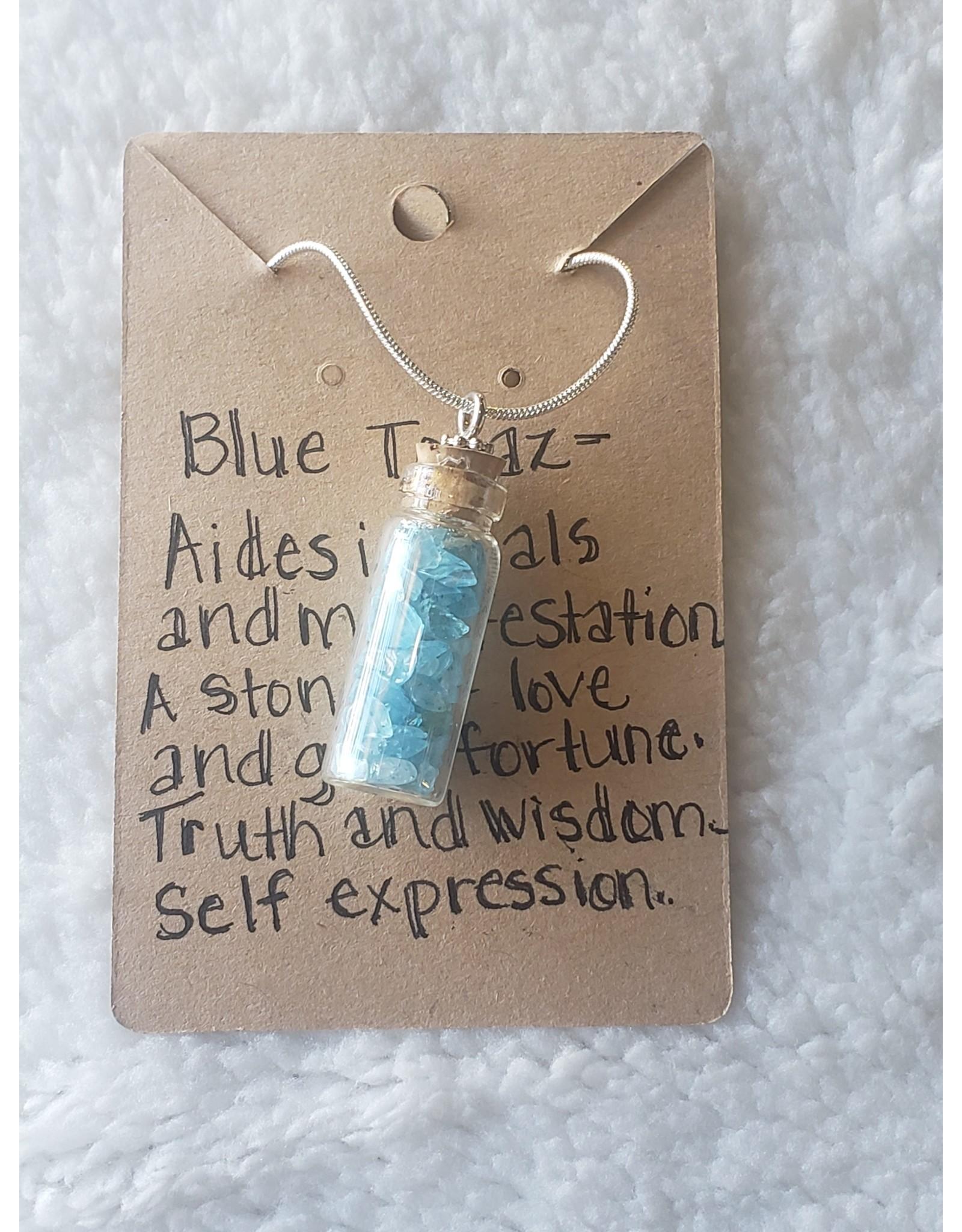 Angel Vaughan Blue Topaz Bottle Necklace