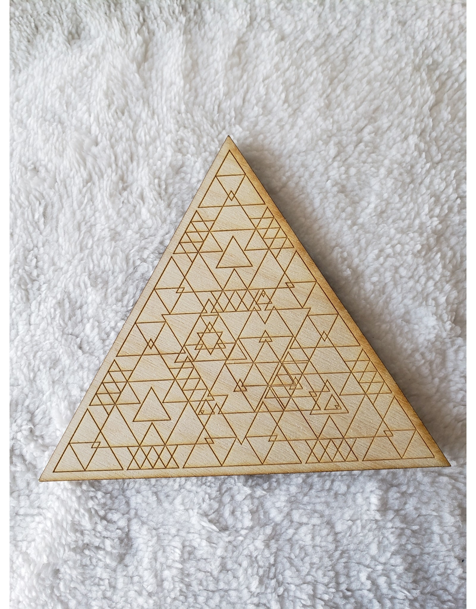 """Zen and Meow Triangle Crystal Grid - 6"""""""
