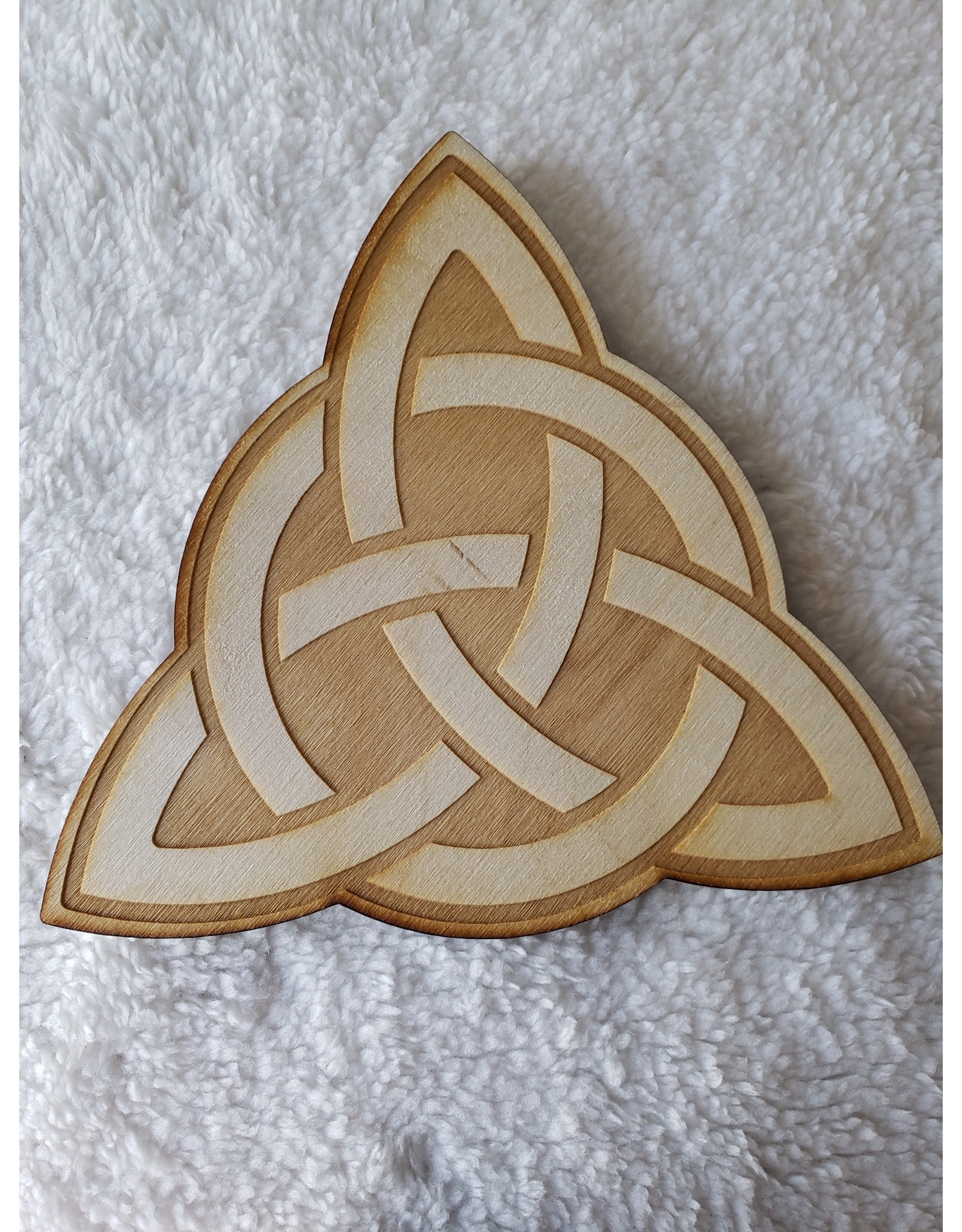 """Zen and Meow Triquetra Crystal Grid - 6"""""""