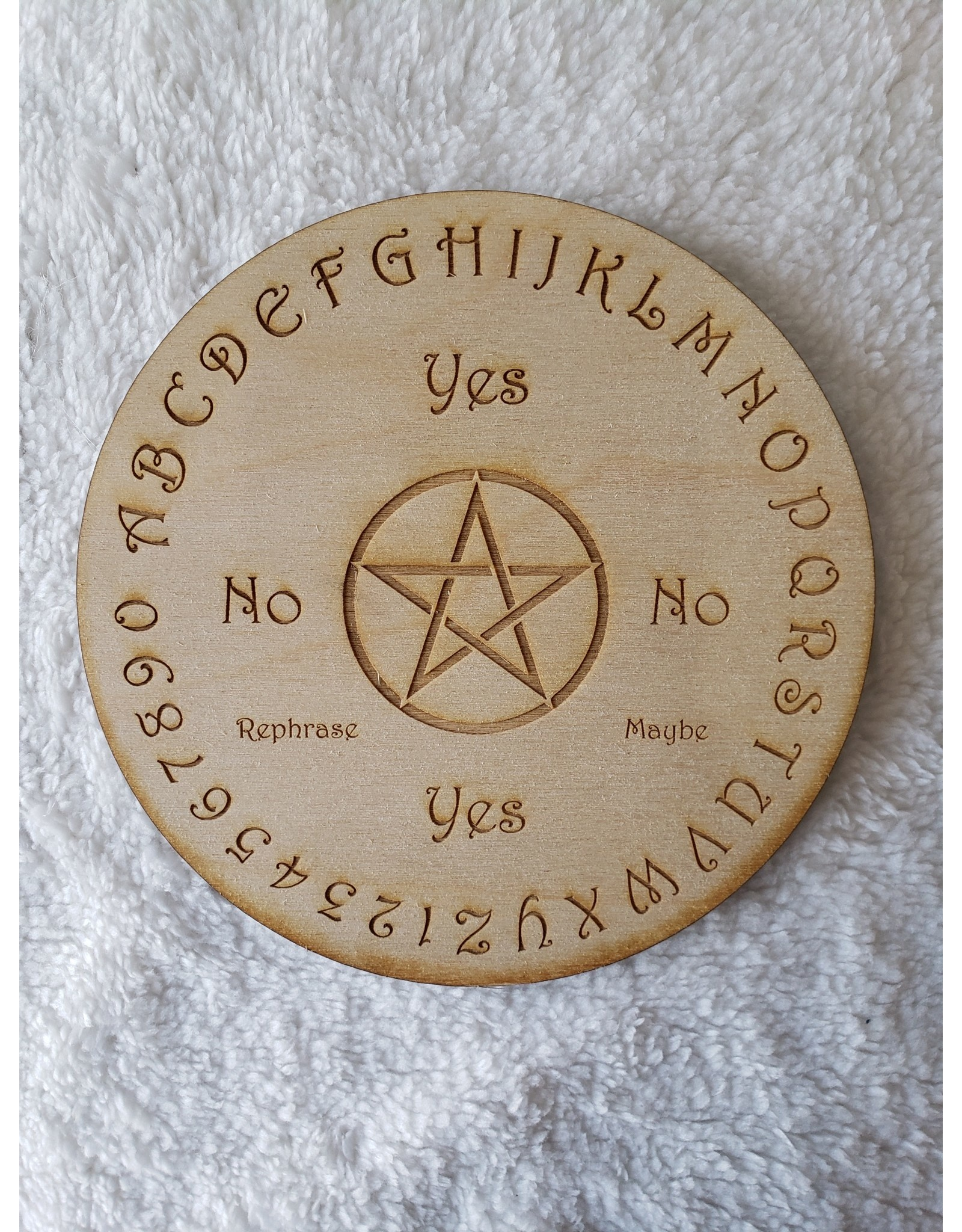 "Zen and Meow Pendulum Board #2 Crystal Grid - 6"""