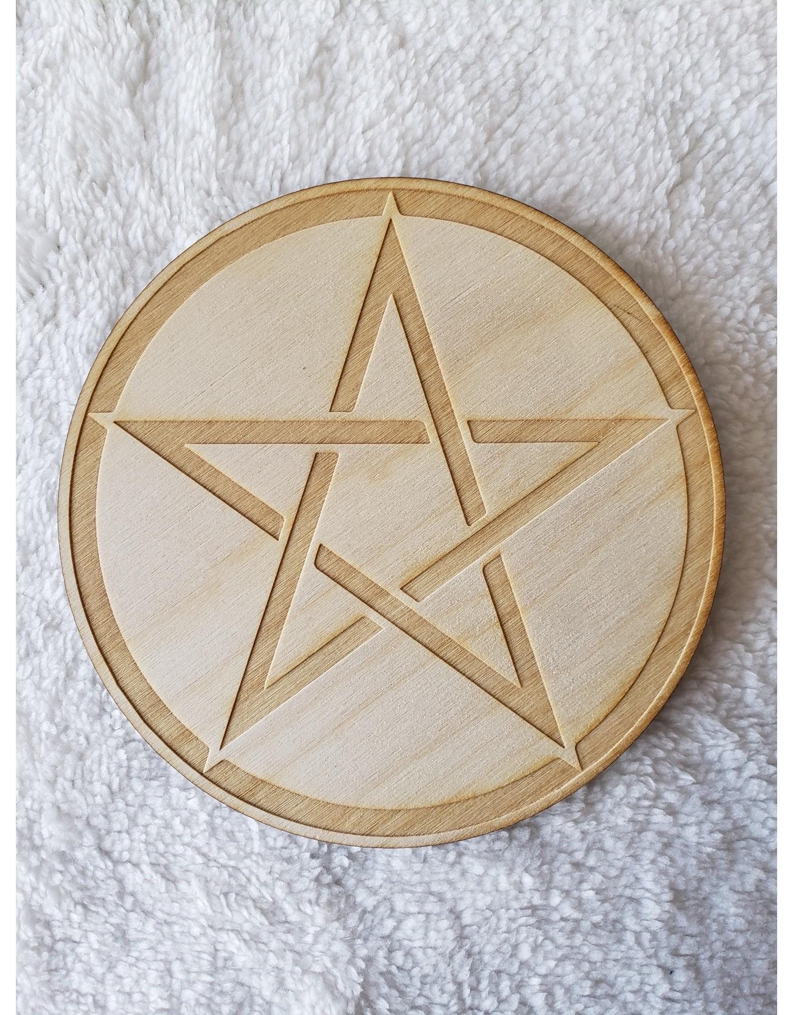 "Zen and Meow Pentagram Crystal Grid - 6"""