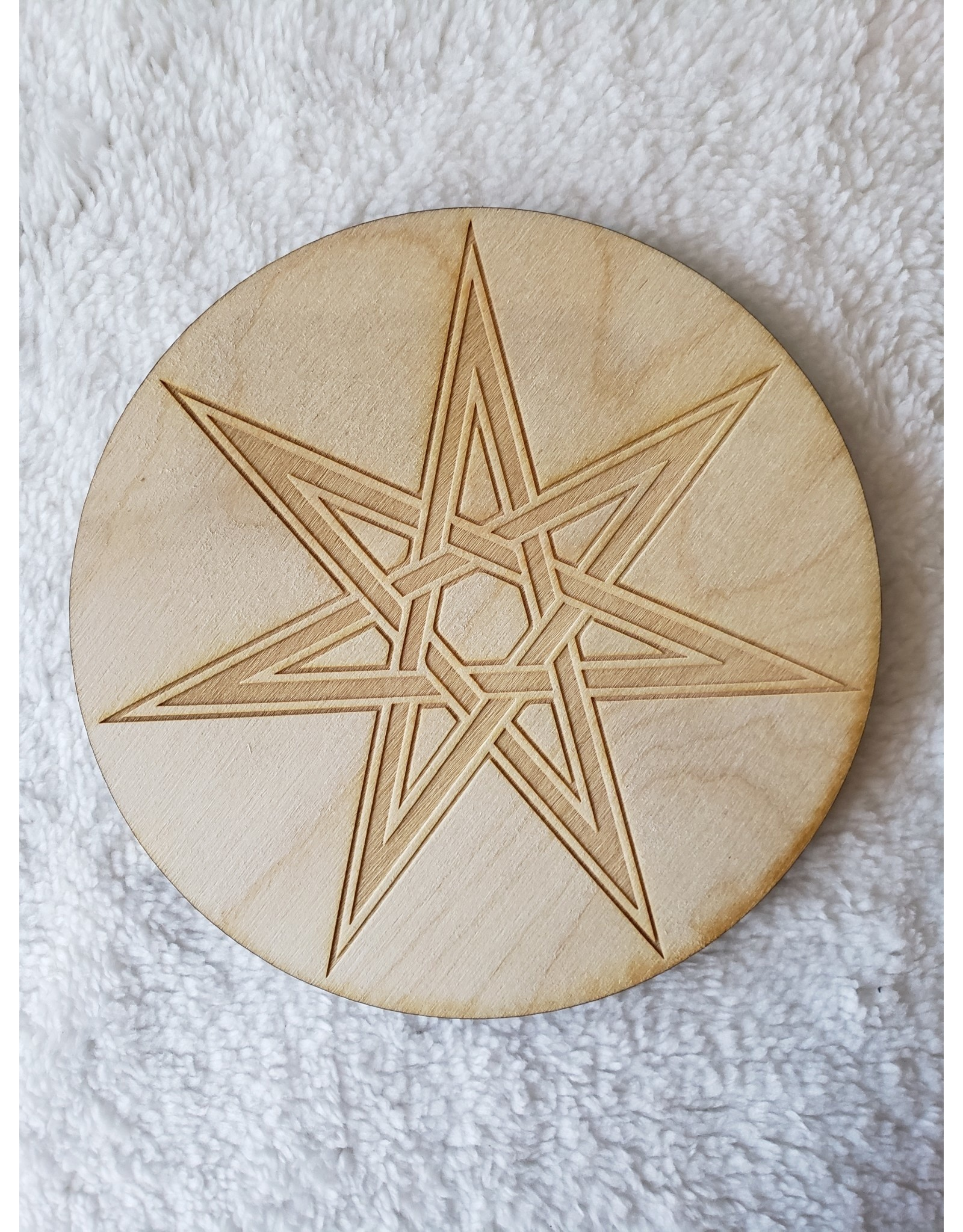 Zen and Meow Faery Star Crystal Grid - 6""
