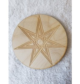 """Zen and Meow Faery Star Crystal Grid - 6"""""""