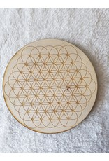 """Zen and Meow Flower of Life Dotted Crystal Grid - 6"""""""