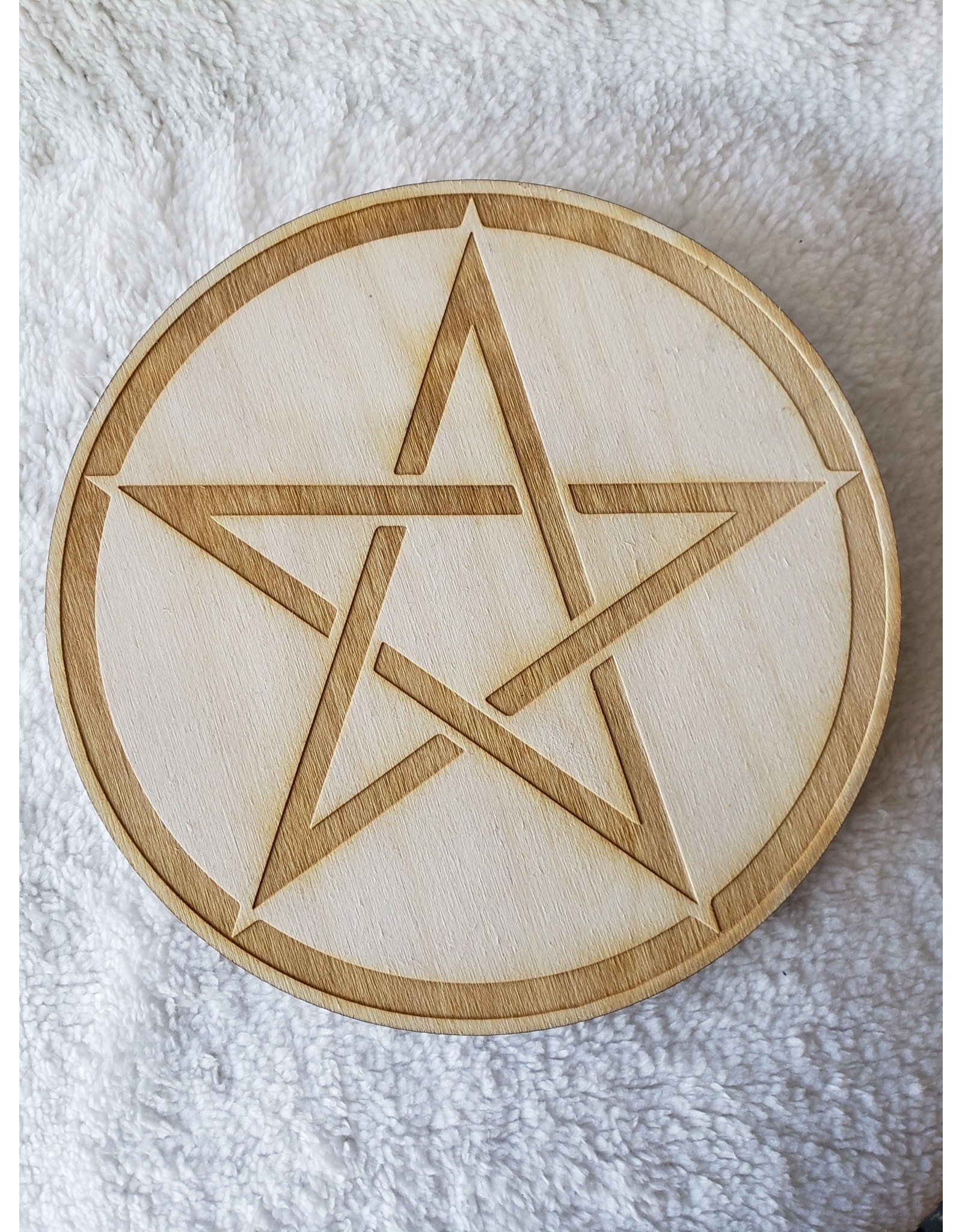 Zen and Meow Pentagram Crystal Grid - 8""