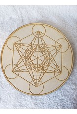 Zen and Meow Metatron's Cube Crystal Grid - 8""