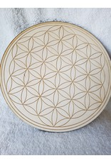 """Zen and Meow Flower of Life Crystal Grid - 10"""""""