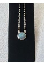 Small Oval Labradorite Necklace
