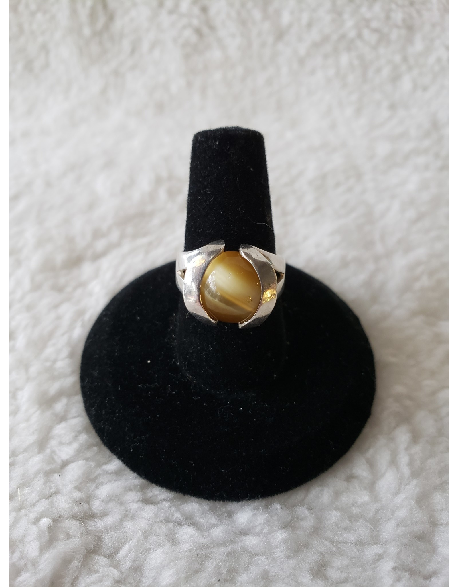 Yellow Cats Eye Ring Sz. 6