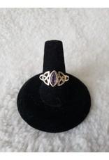 Amethyst Triquetra Ring Sz. 6