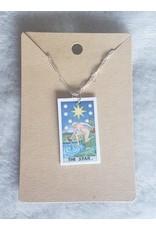 Angel Vaughan The Star Tiny Tarot Necklace
