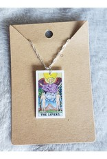 Angel Vaughan The Lovers Tiny Tarot Necklace