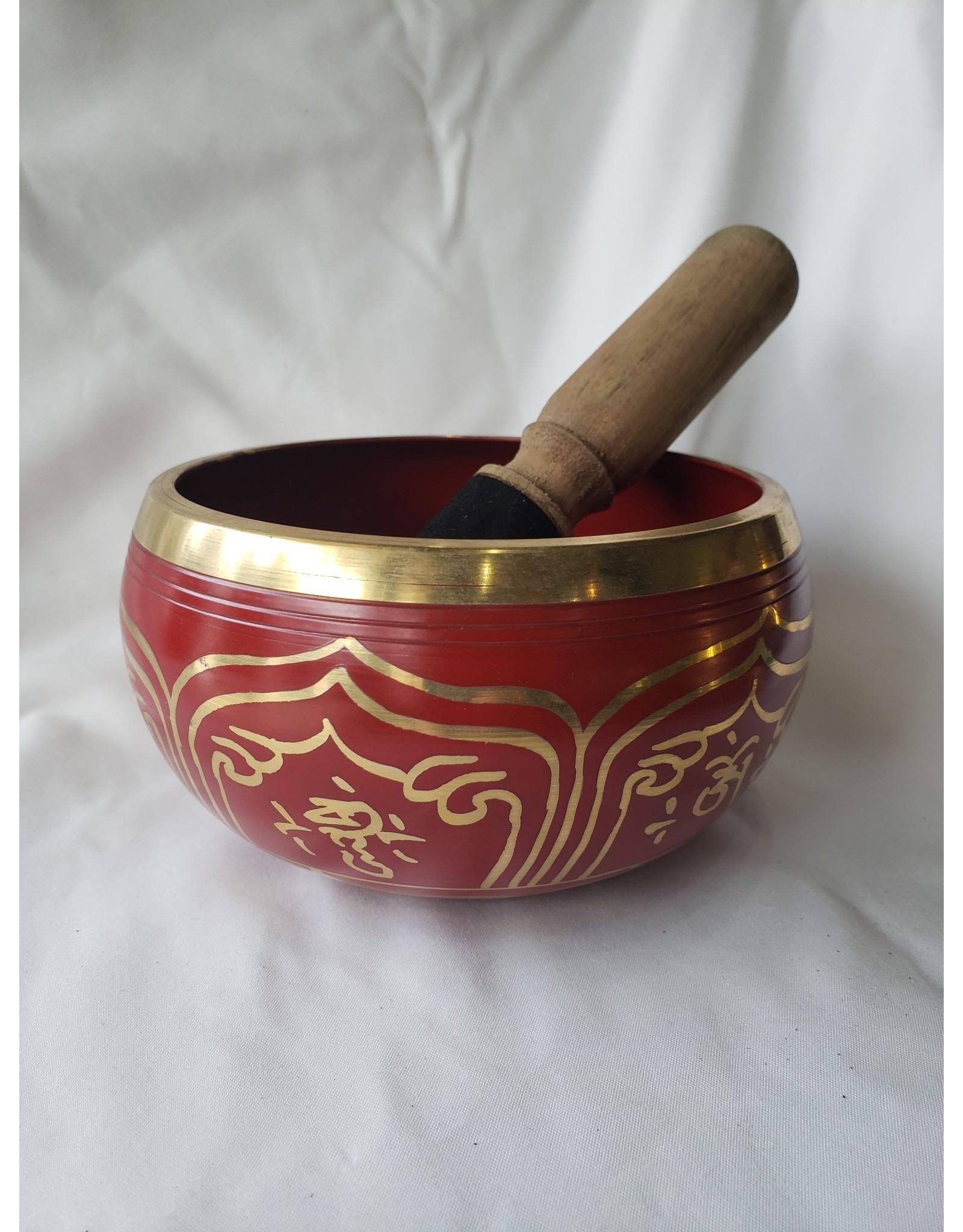 Endless Knot Red Medium Singing Bowl