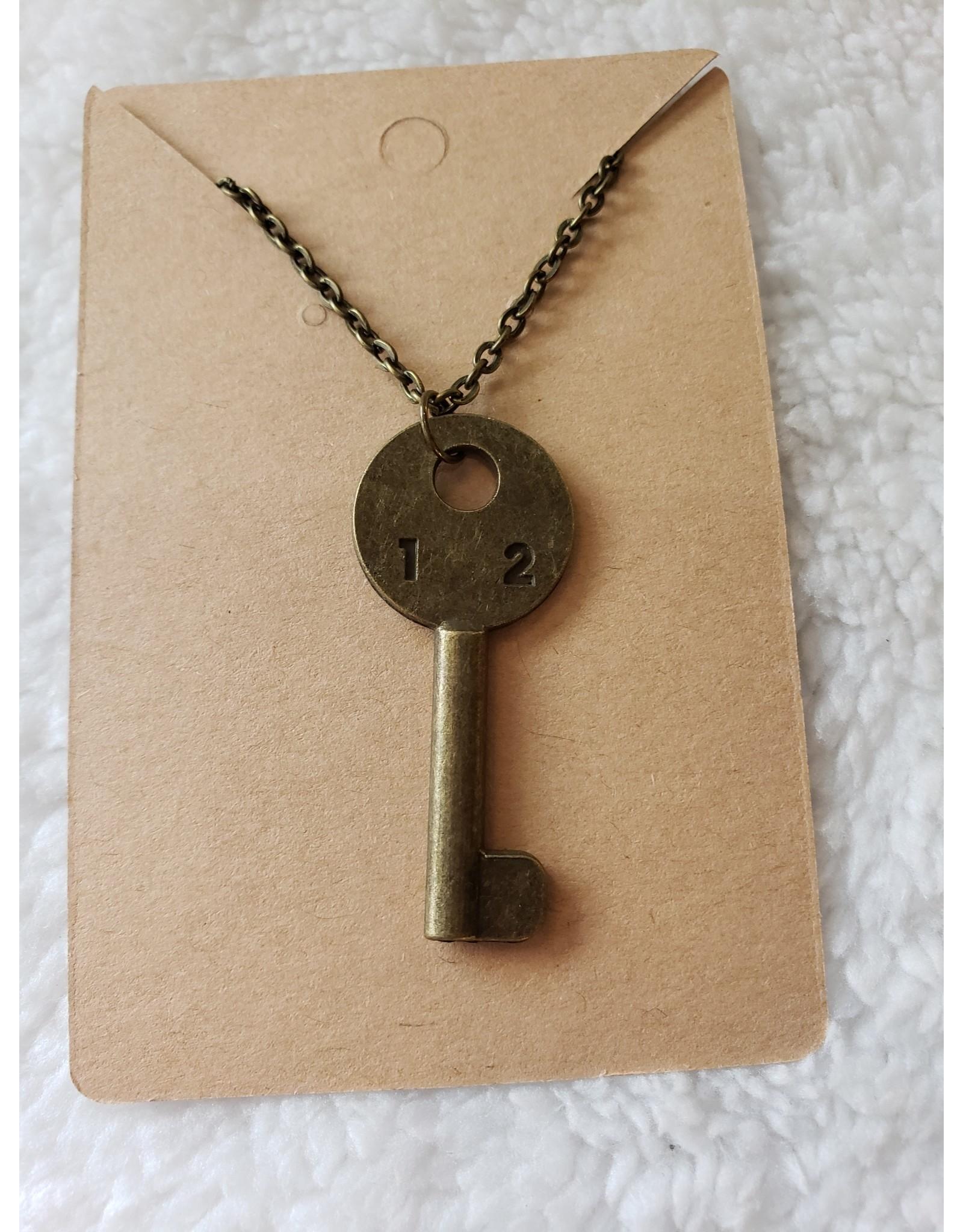 Angel Vaughan 12 Brass Key Necklace