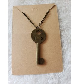Angel Vaughan 12 Brass Key Necklace