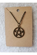 Angel Vaughan Brass Pentacle Necklace