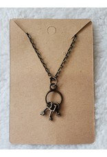 Angel Vaughan Brass Tiny Keys Necklace