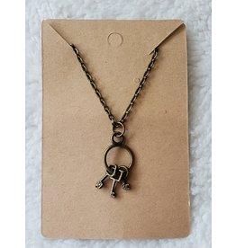 Angel Vaughan Brass Tiny Keys Necklace