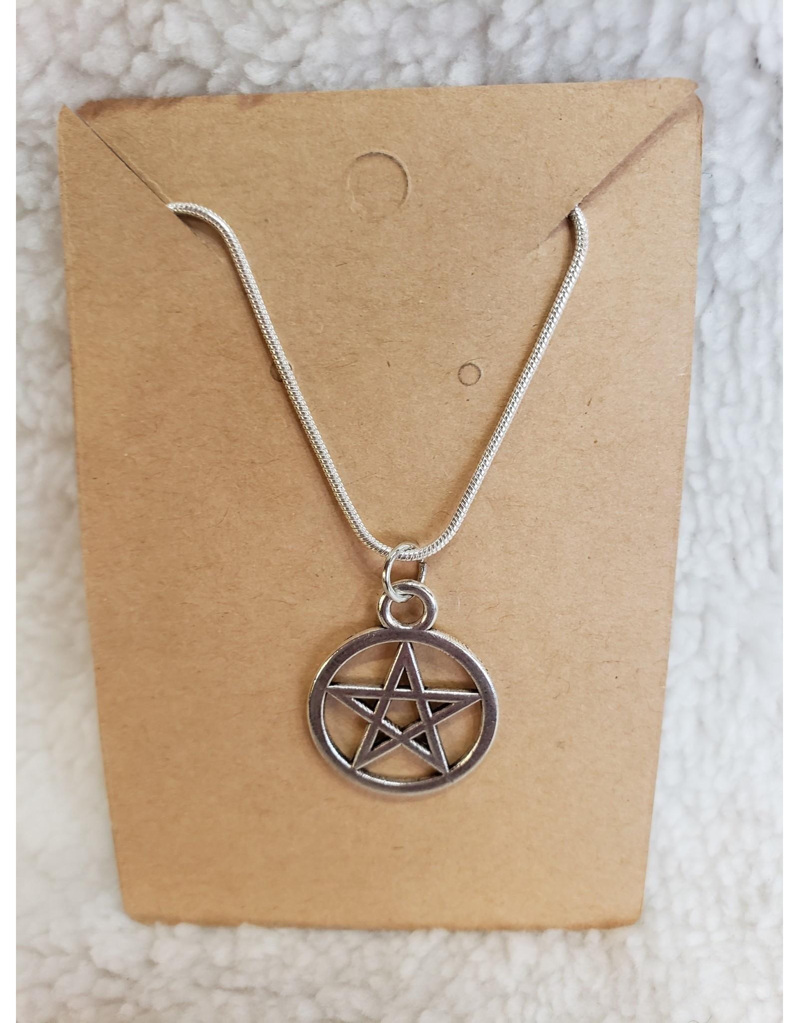 Angel Vaughan Sterling Pentacle Necklace