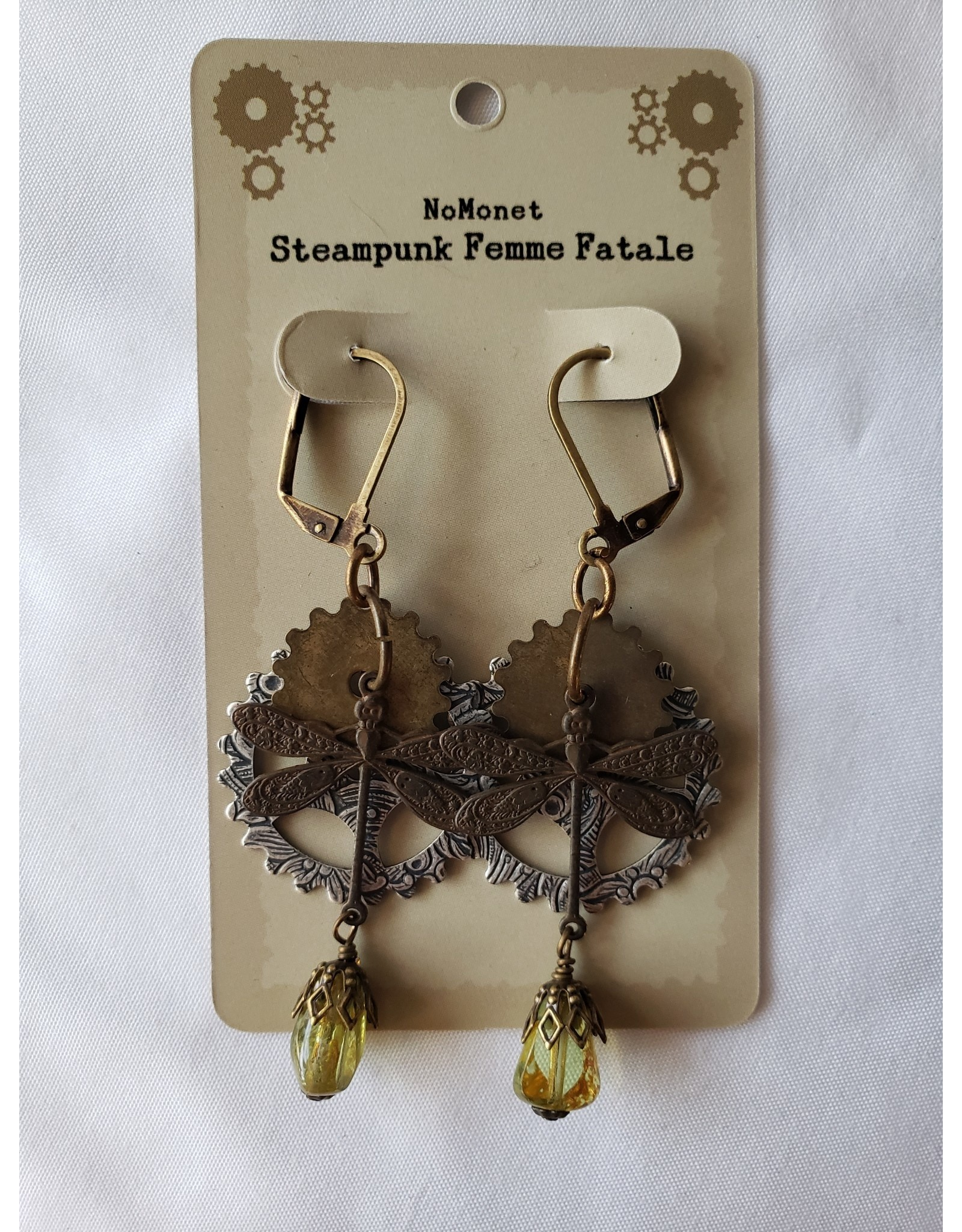 Dragon Dance Steampunk Earrings