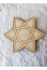 """Zen and Meow Celtic Star Crystal Grid - 6"""""""