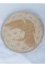 "Raven Flower of Life Crystal Grid - 6"""