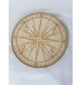 """Zen and Meow Compass Crystal Grid - 6"""""""