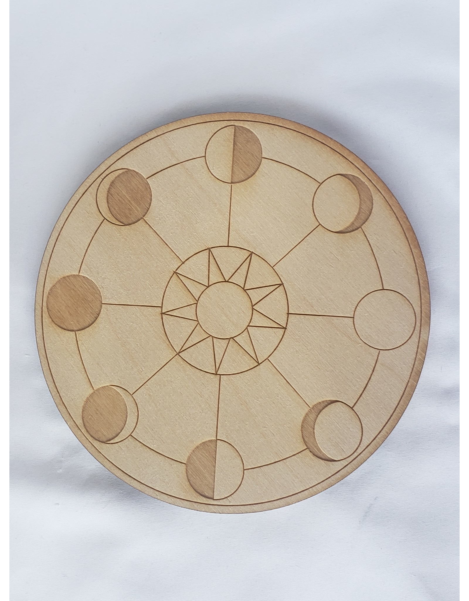 Zen and Meow Moon Phase Crystal Grid - 6""