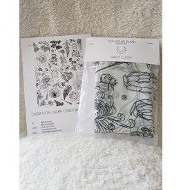 100 % Cotton Tarot Wrap/ Scarf - Garden