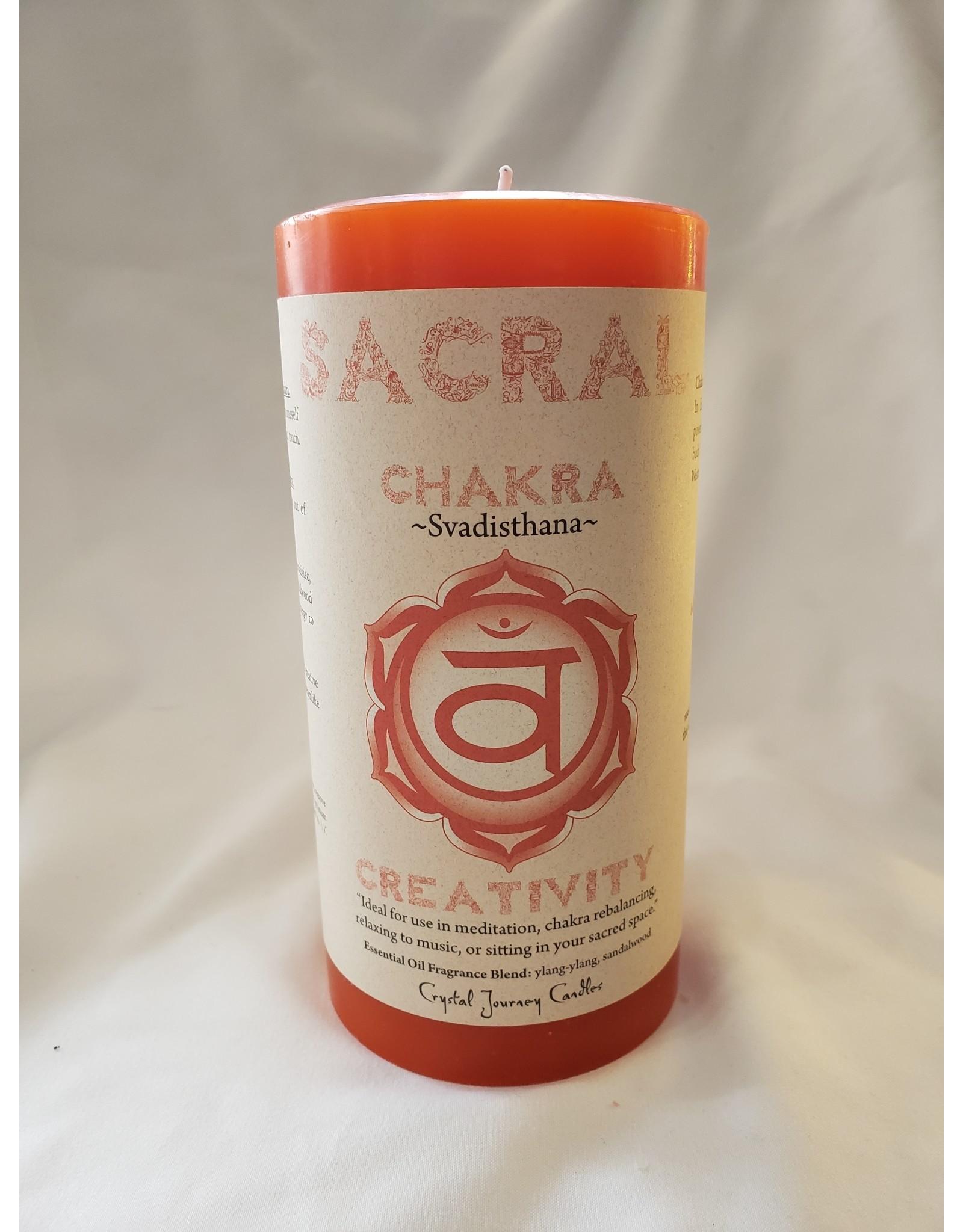 Svadisthana - Sacral Chakra Pillar Candle