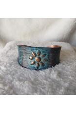 Copper Flower Patina Braclet