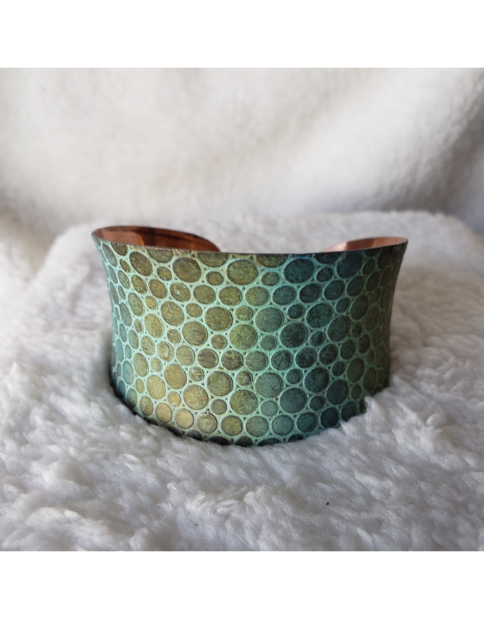 Copper Mermaid Scales Patina Bracelet