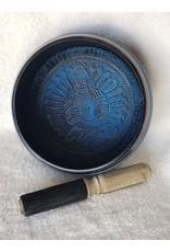 "Round Sides 7"" Medicine Buddha Blue Singing Bowl"