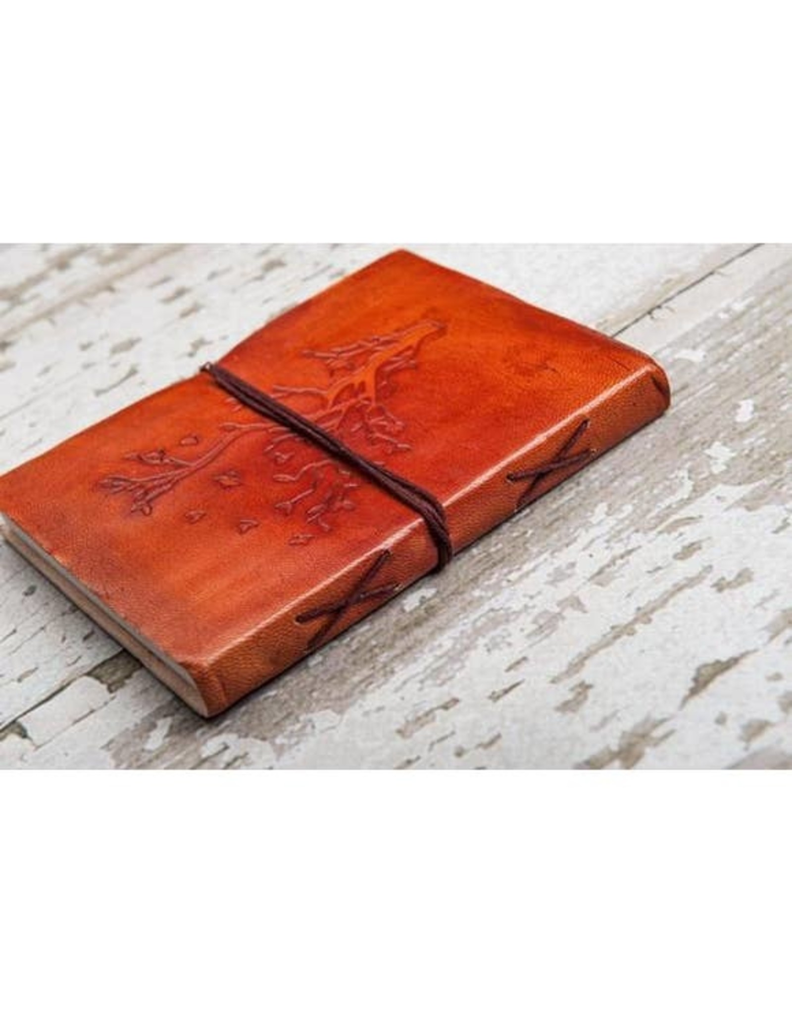 Embossed Tree Handmade Leather Journal