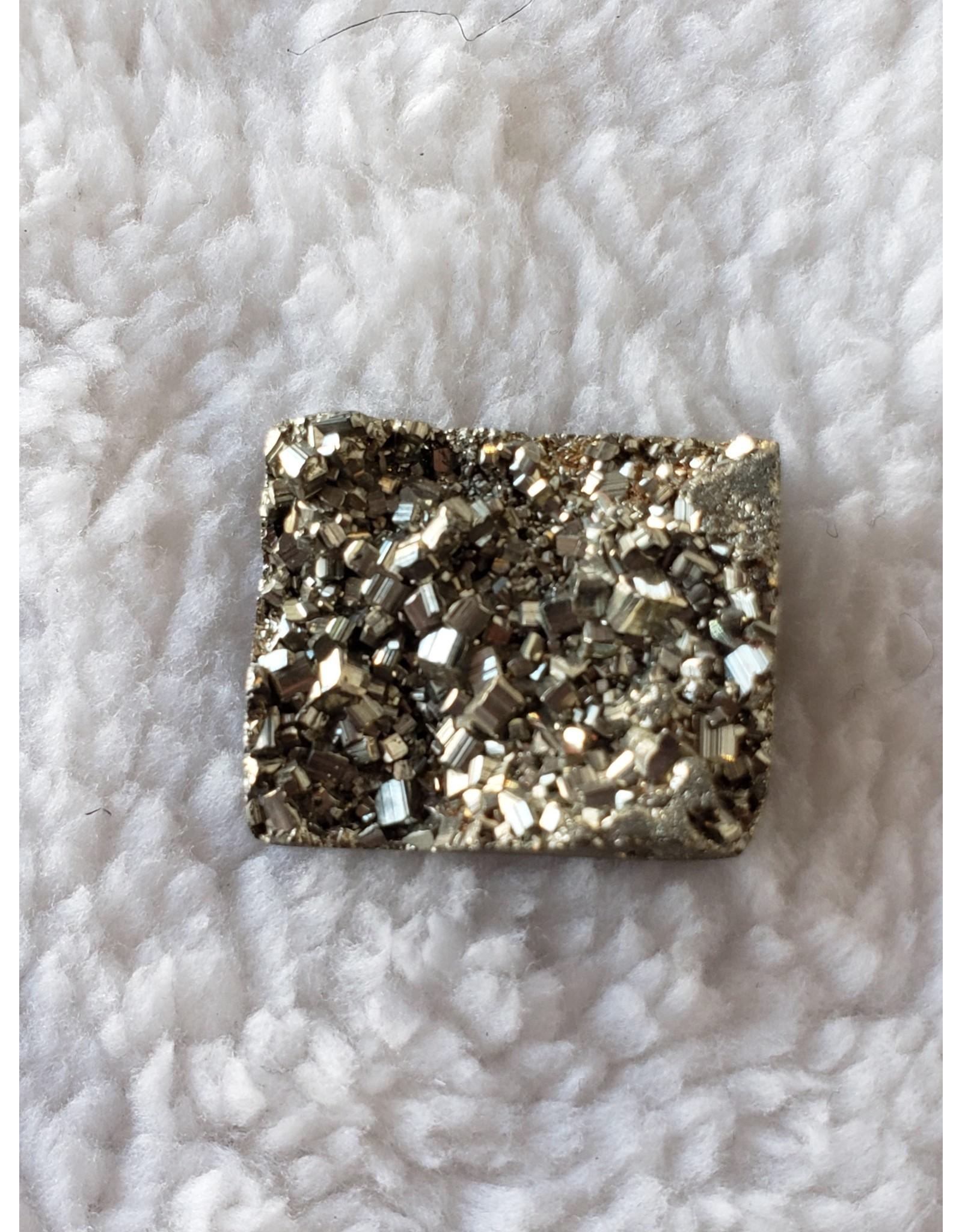 Square Pyrite Cabochon