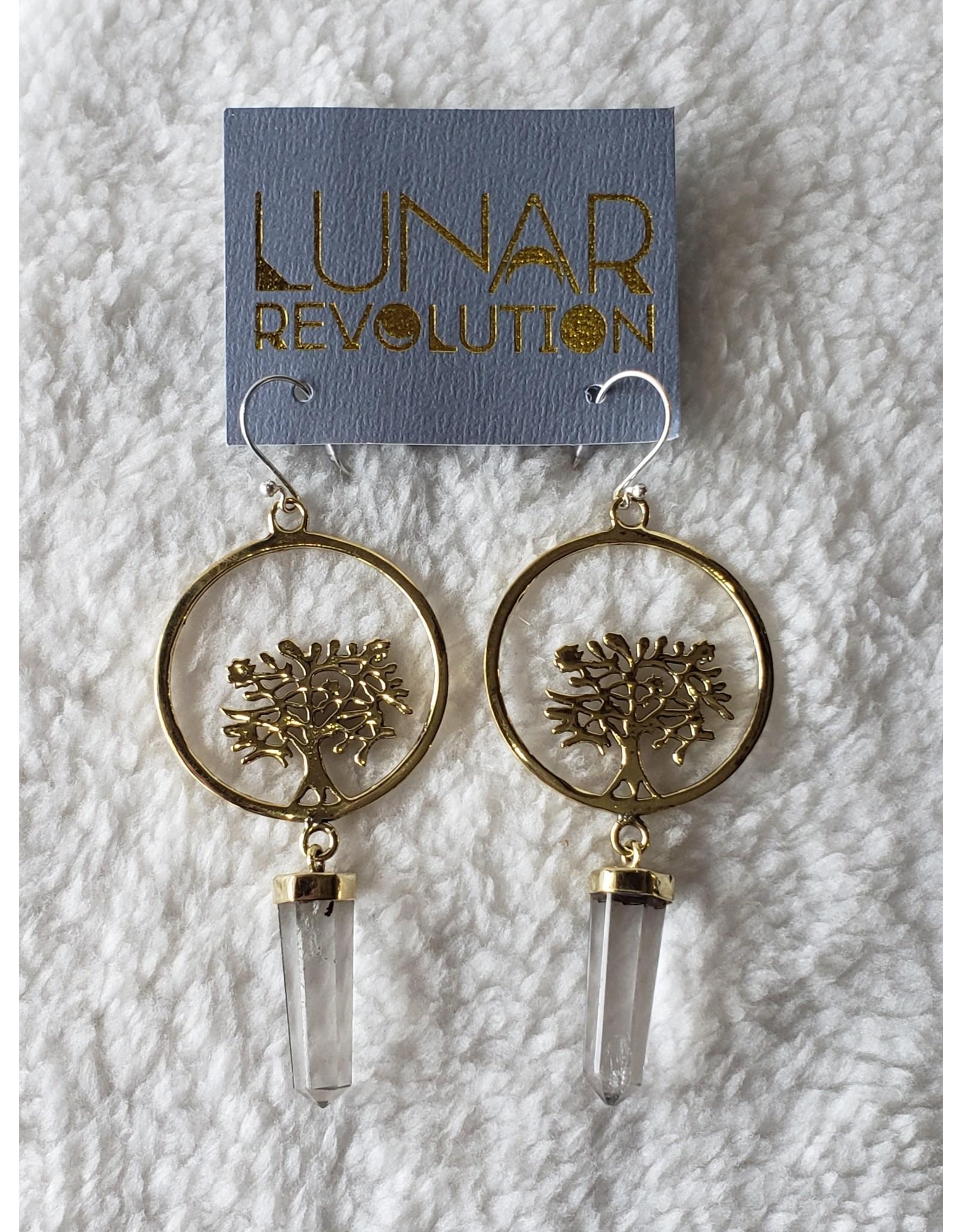 Crystal Tree of Life Earrings