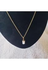 Gold Selenite Talisman Necklace