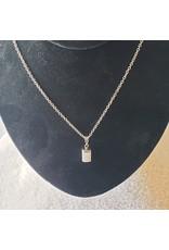 Silver Selenite Talisman Necklace