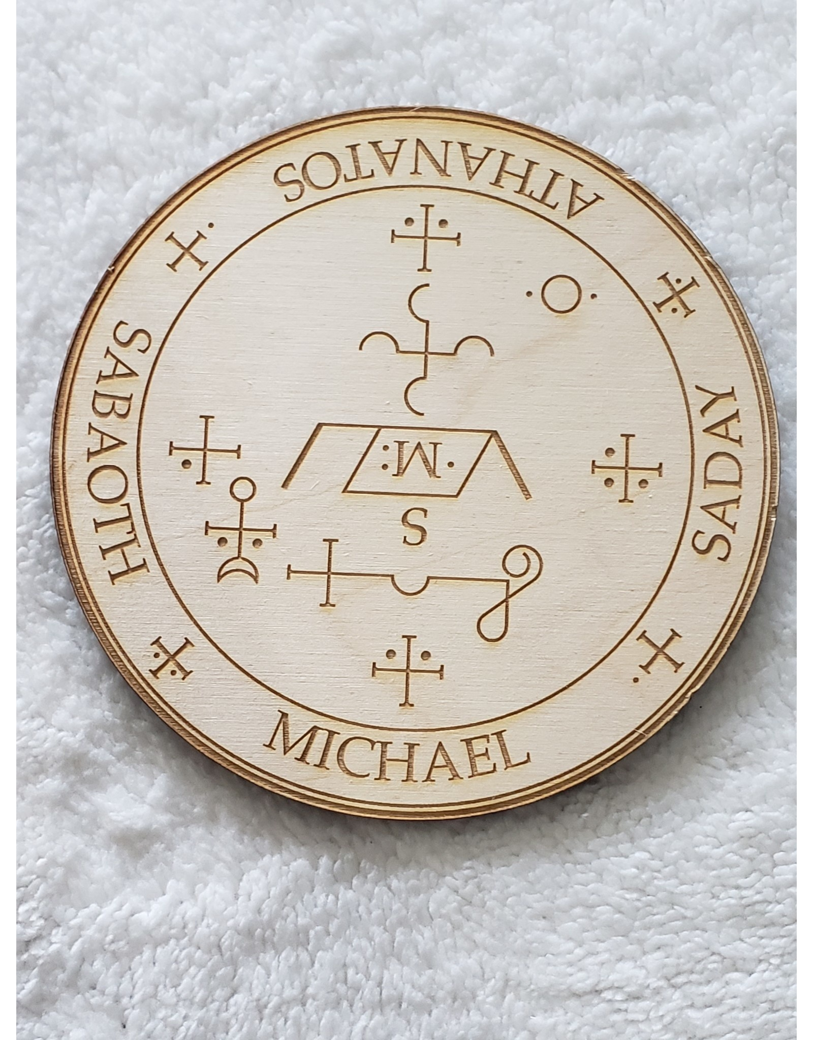Zen and Meow Michael Crystal Grid - 6""