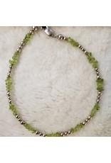 Peridot & Accent Bead Bracelet