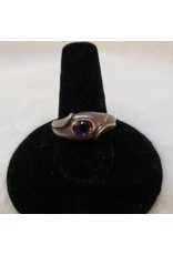Amethyst ring Oval ring