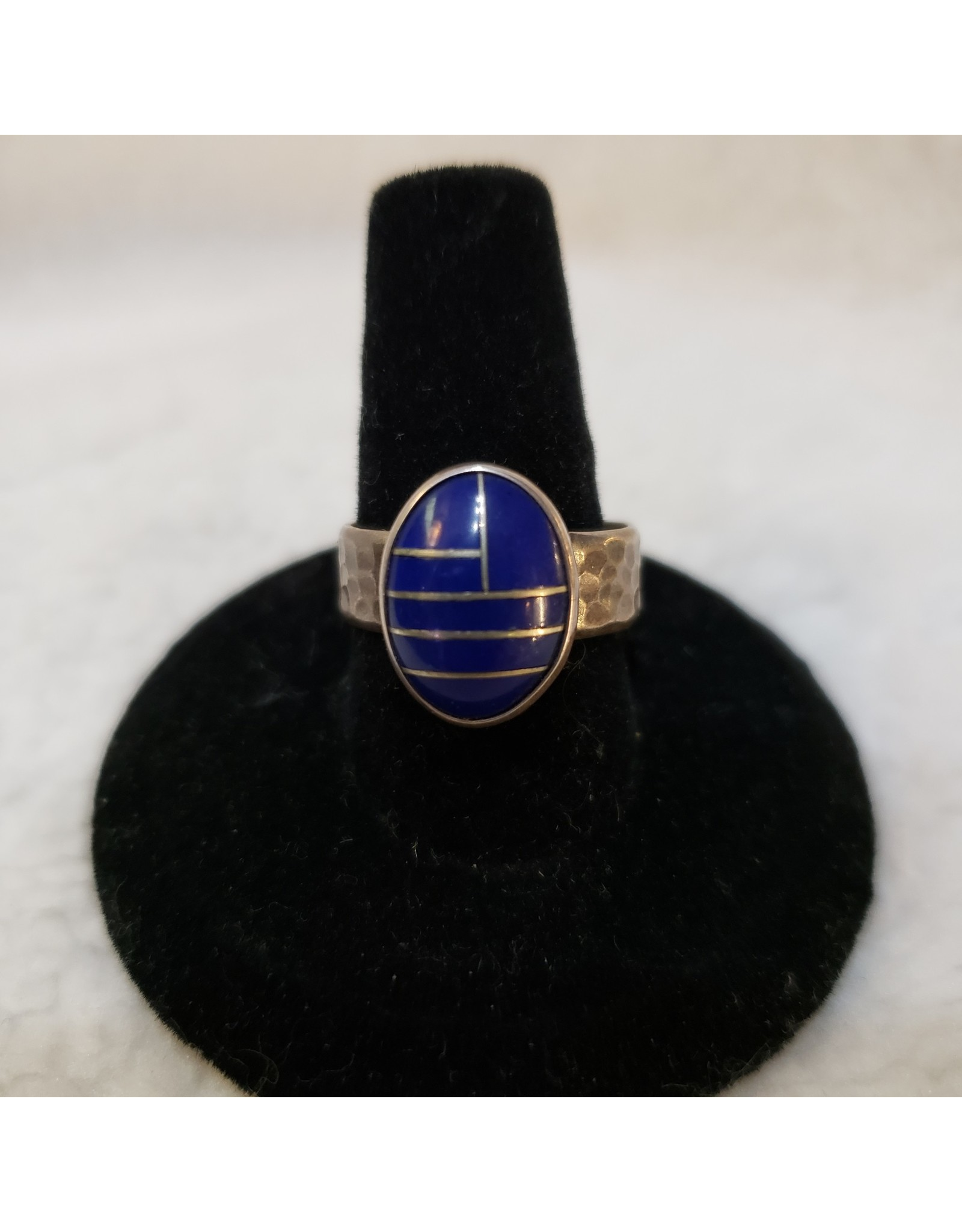Lapis Ring with Design