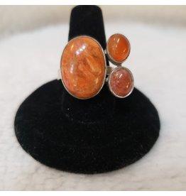 Sanchi and Filia P Designs Sunstone & Carnelian Ring