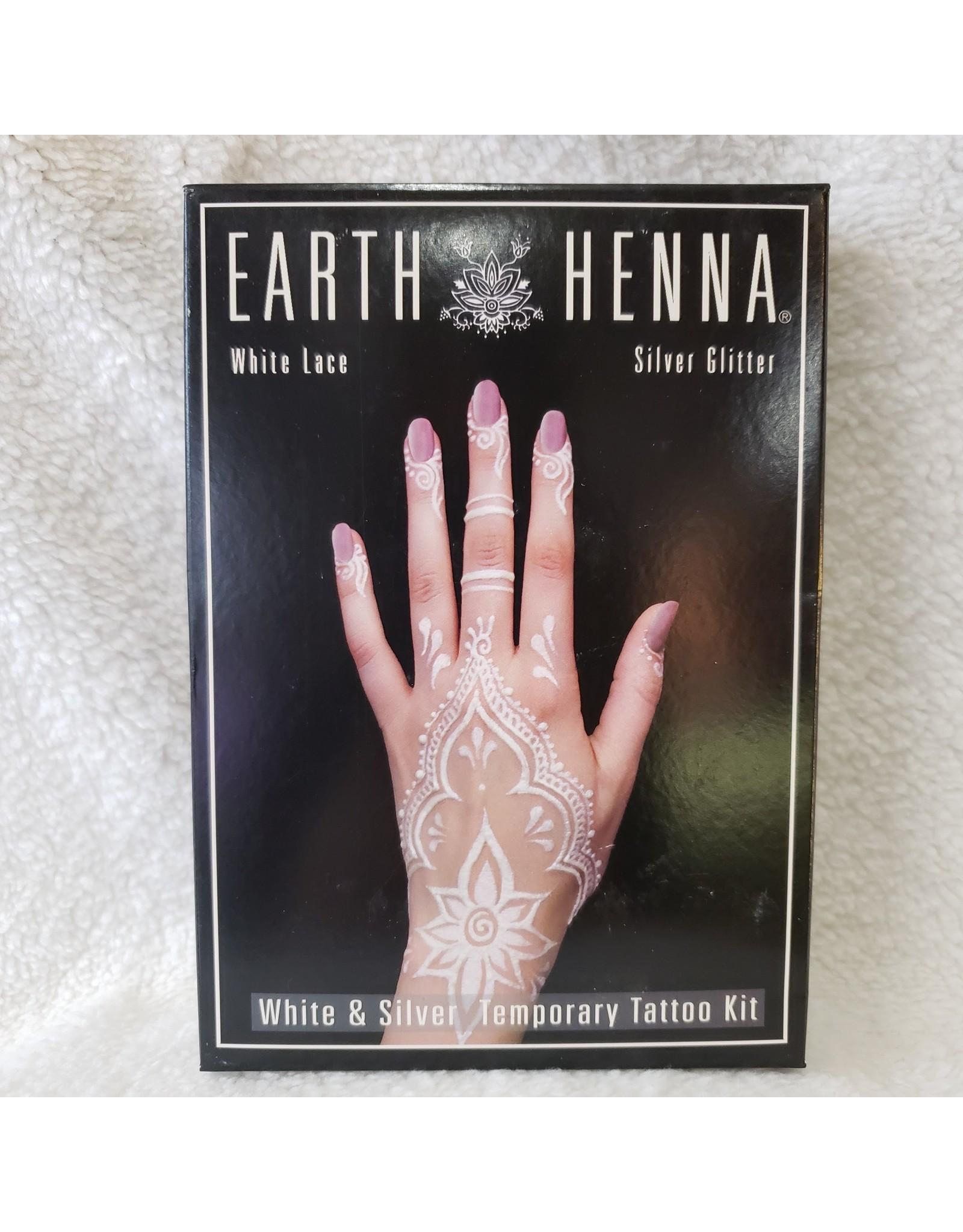 White Lace & Silver Henna Tattoo Kit