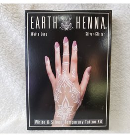 White Lace & Silver Henna Tattoo Kit
