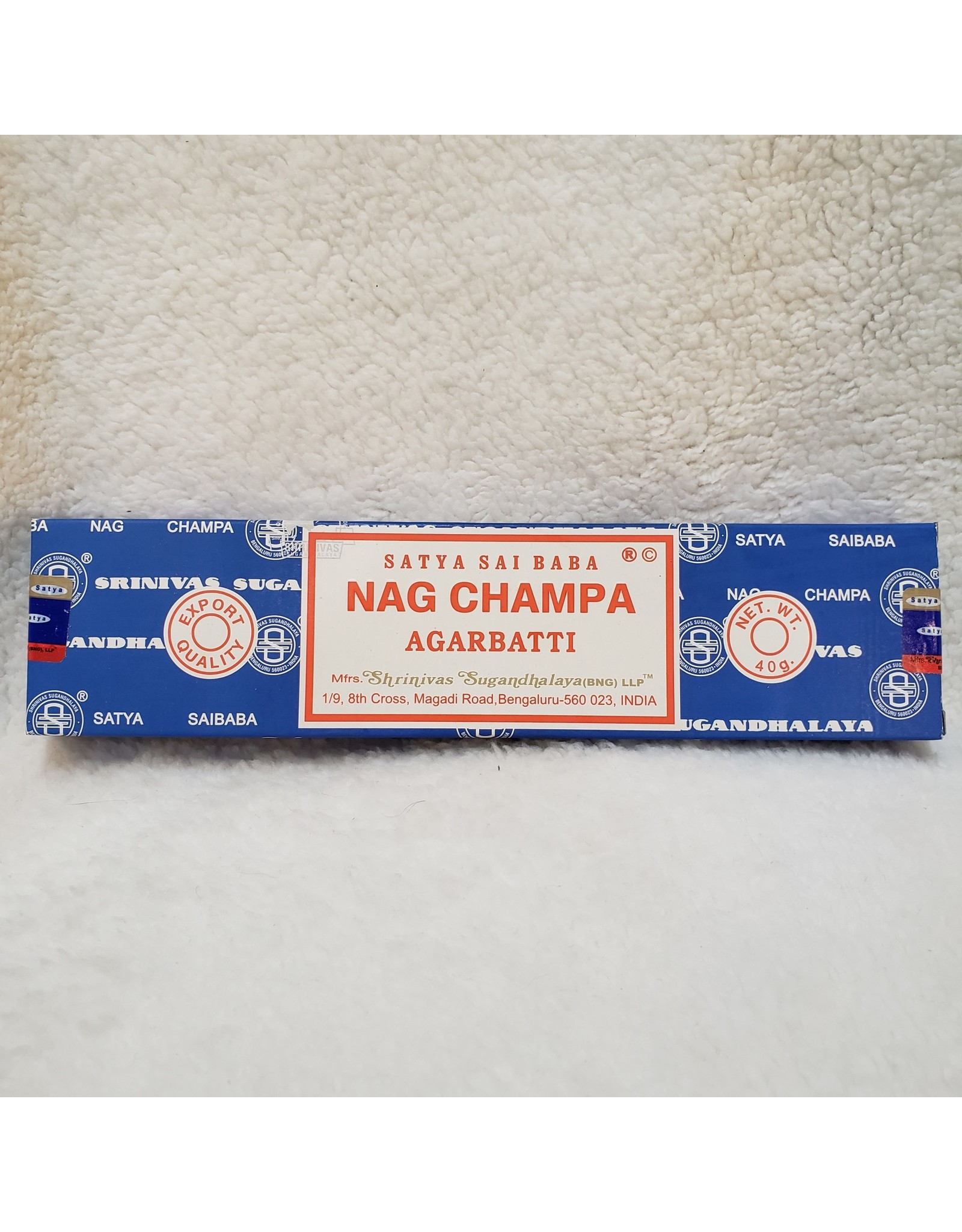 Nag Champa Incense Sticks - 40g.