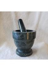 Greener Things Mortar & Pestle - Green Marble