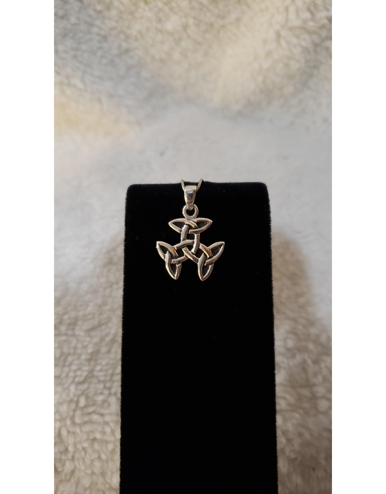 Sterling Silver Triple Triquetra Pendant