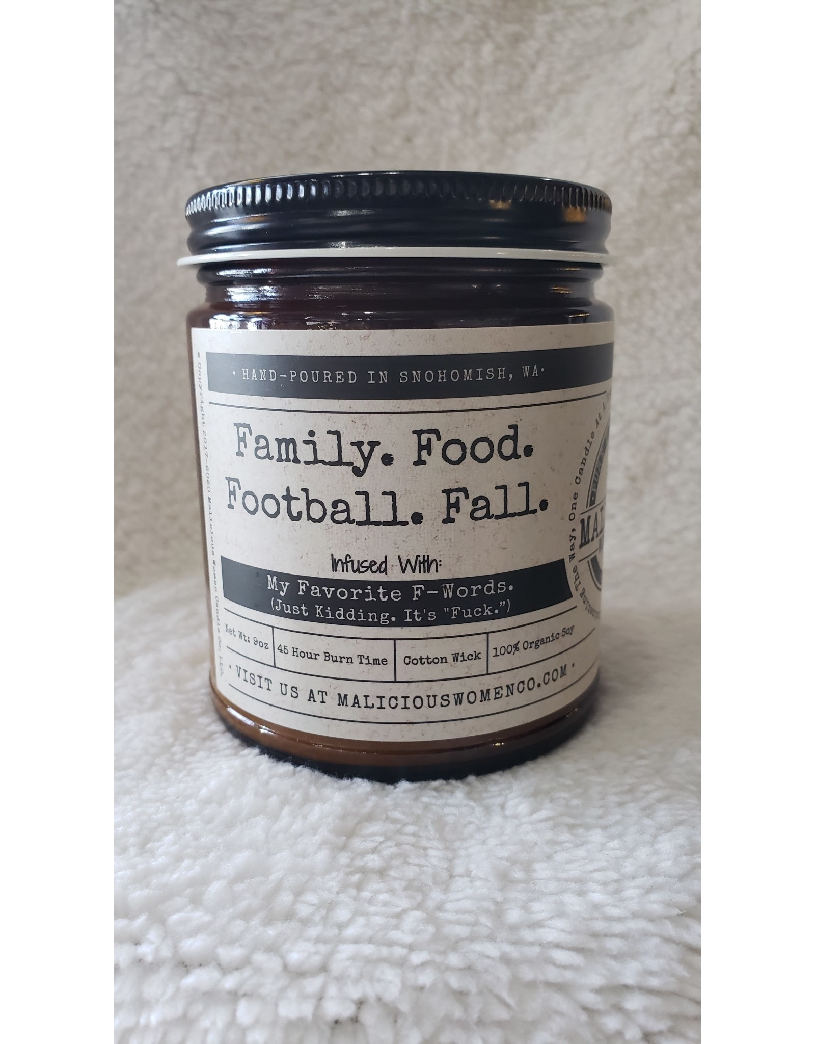 """Family. Food. Football. Fall. Infused with """" My Favorite F Words."""" - Blueberry Clobber"""